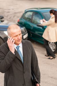 man on phone after accident