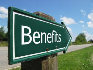 benefits arrow sign