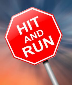 stop sign saying hit and run