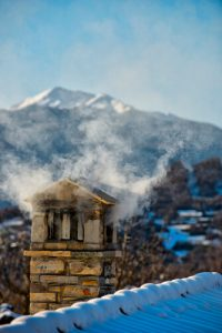chimney mountain backdrop