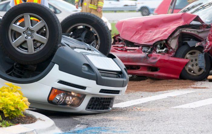 crash car overturned