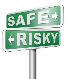 safe and risky sign