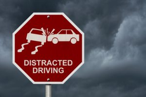 distracted driving road sign