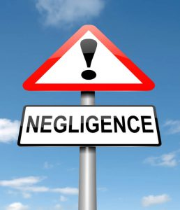 caution negligence sign