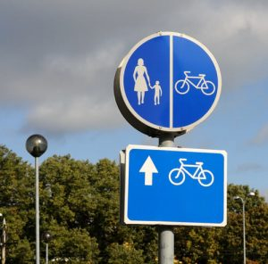 pedestrian and bike safety signs
