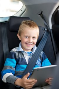 child restrained backseat
