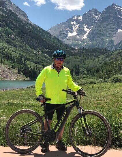Gary Bell on his mountain bike