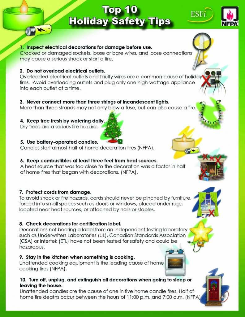 10 Holiday Tips poster
