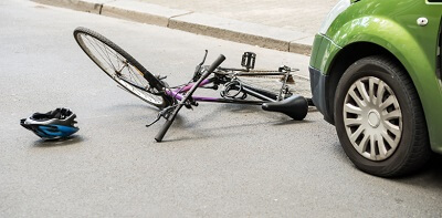 accident involving a car and a bicycle