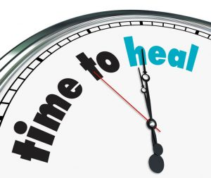 time to heal clock