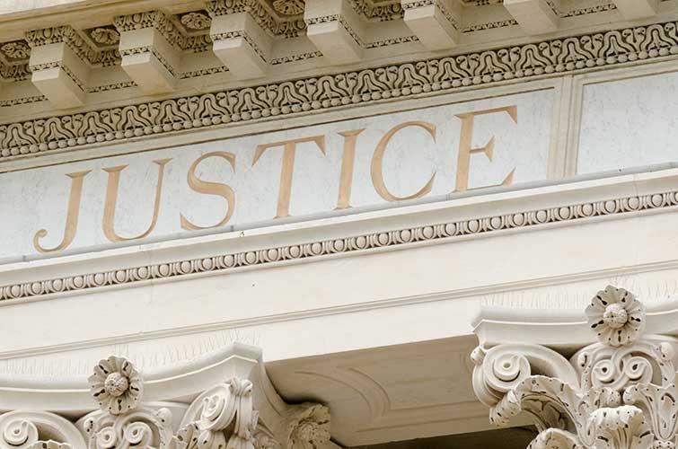 the halls of justice building facade